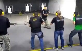 Vídeo flagra instrutor desviando de tiros em treino policial no Paraná