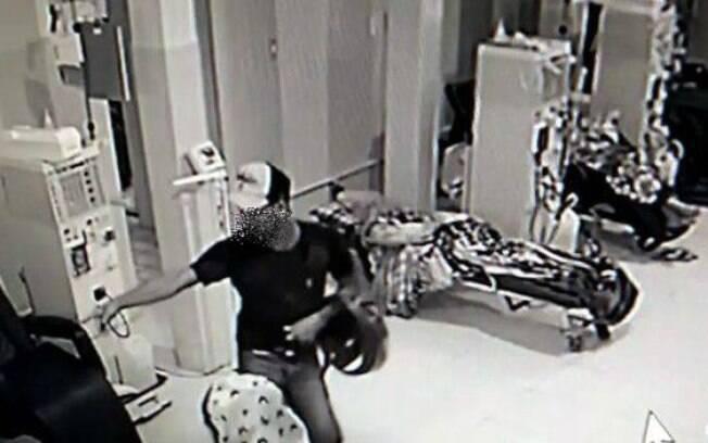 Imagens do roubo no hospital