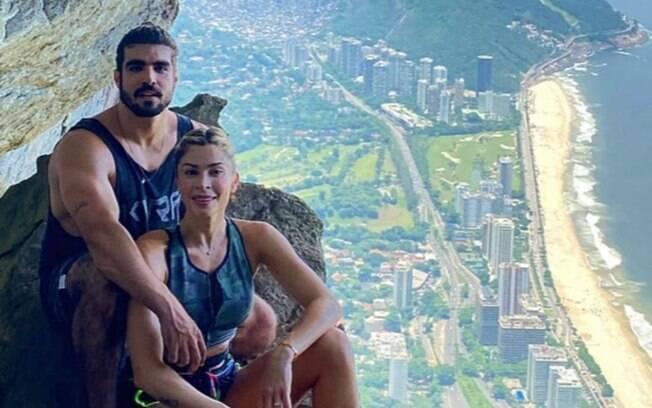 Casal de globais fez uma trilha pelo Rio de Janeiro e encantou seguidores com os registros