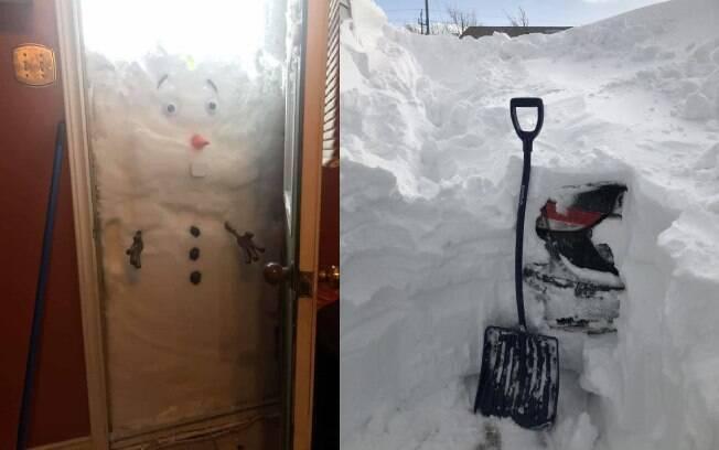 Grande quantidade de neve criou diversas imagens inusitadas