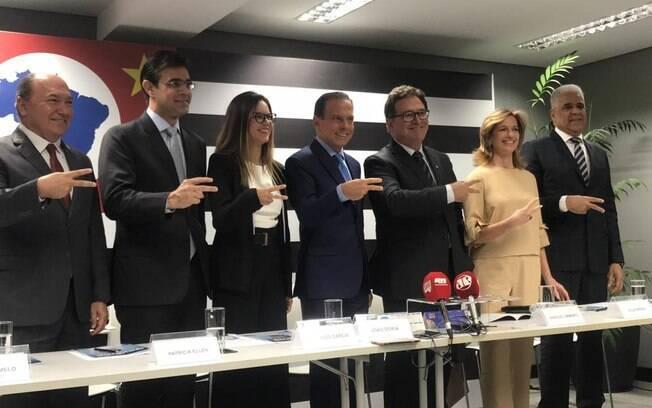 Parte da equipe do governador eleito, João Doria