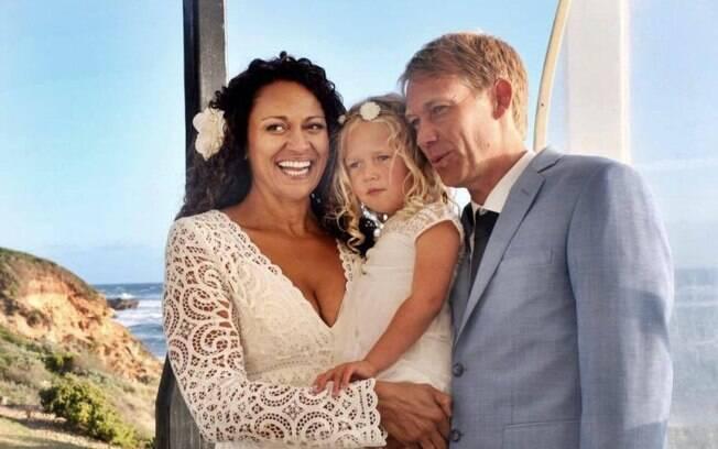 Aminah Hart casou com o doador de esperma de sua filha, Leila