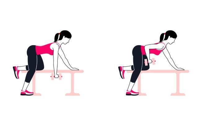 Na hora de realizar os exercícios de ombro, é preciso deixar a coluna estabilizada, sem nenhuma movimentação