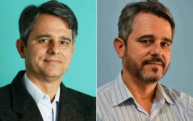 Maurício não deixava a barba crescer por conta das falhas. Foto da direita foi tirada nesta semana