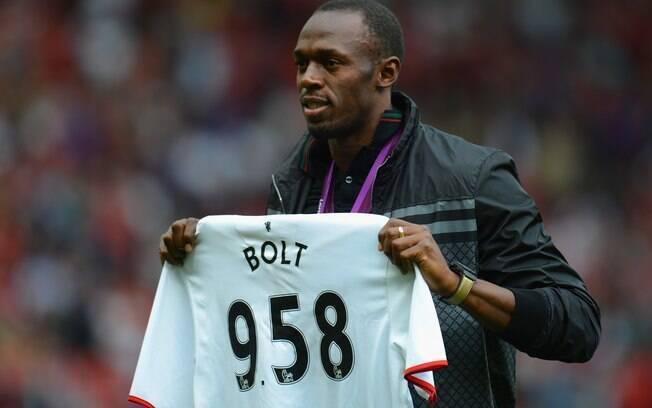 Quando se aposentar do atletismo, Bolt quer jogar futebol e já até pediu uma vaga no Manchester United