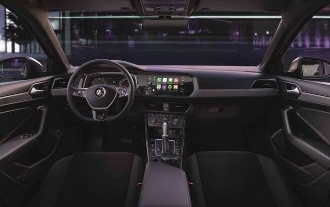 Novo Volkswagen Jetta 2019 de entrada tem como destaque a traz central multimídia  com tela sensível ao toque