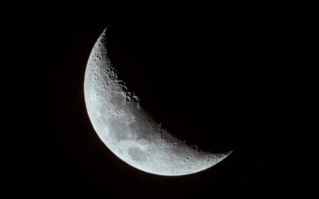 Lua Crescente em Leão
