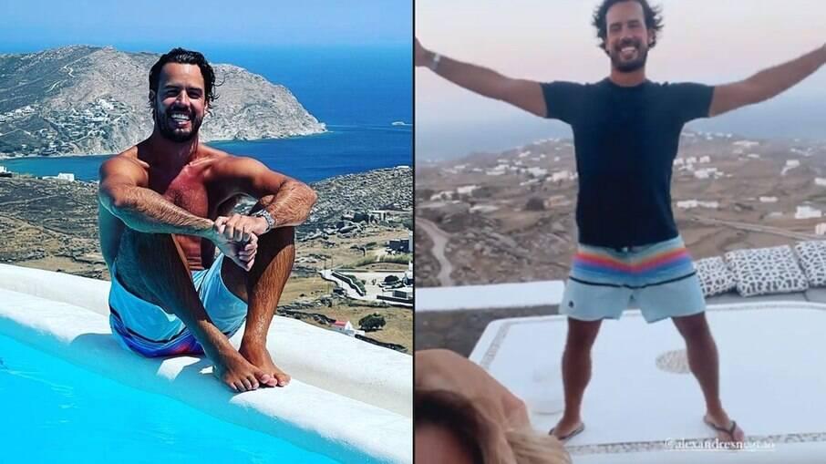 Alexandre Negrão durante viagem pela Grécia