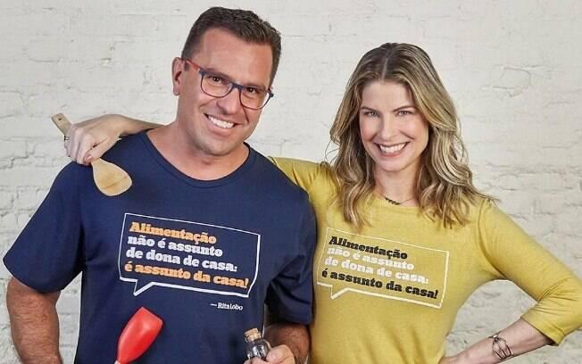 Na época, Rita Lobo saiu a favor de Bocardi, agora eles gravaram juntos para incentivar os homens a cozinharem