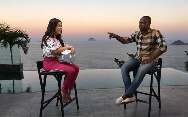 Marido faz parte ativa da nova fase de Fernanda Souza, seja no programa de TV como em sua peça de teatro