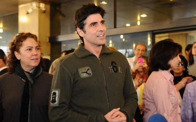 Reynaldo Gianecchini no último dia 26 de agosto, quando teve alta do Hospital Sírio Libânes