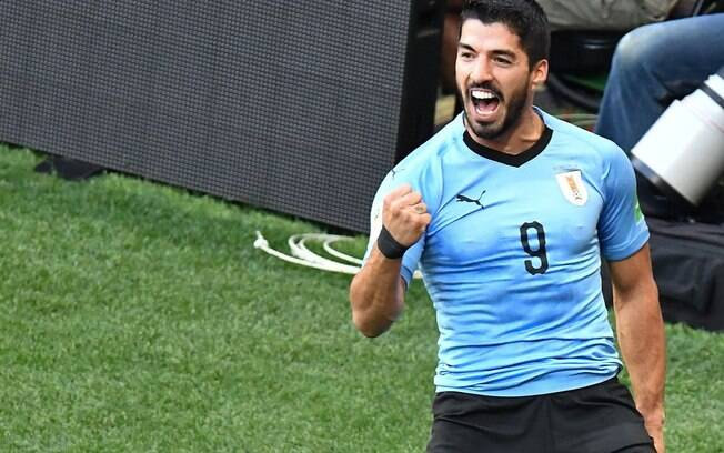 Luis Suárez em ação pelo Uruguai