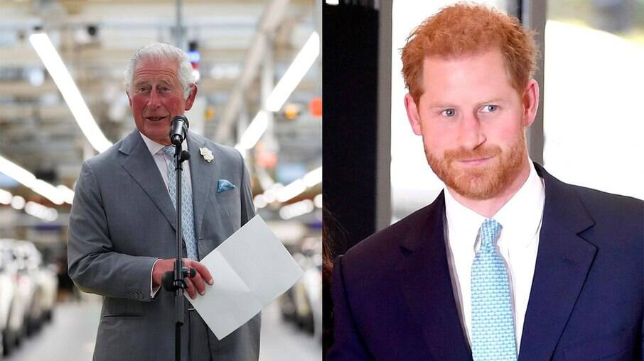 Príncipe Charles e Príncipe Harry