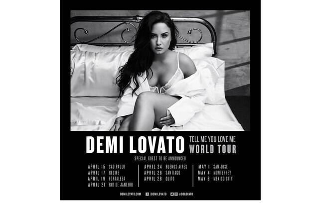 Demi Lovato anuncia quatro shows no Brasil em 2018