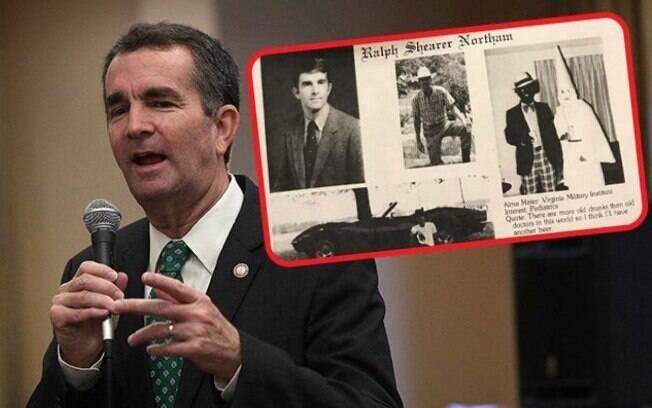 Governador da Virgínia admitiu que aparece na foto, mas depois voltou atrás