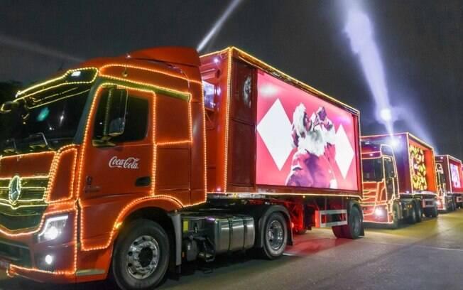 Caravana Iluminada de Natal da Coca-Cola vai passar por Campinas na segunda-feira