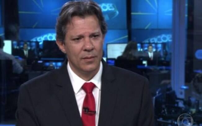 Fernado Haddad foi o entrevistado desta quarta-feira (19) no Jornal da Globo