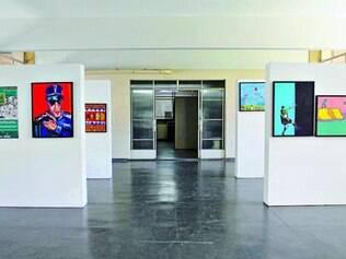 Galeria da prefeitura.  Espaço é um dos locais utilizados para a realização das exposições de artísticas