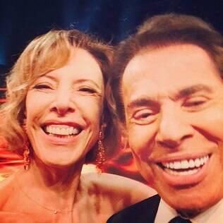 Marília Gabriela e Silvio Santos: selfie