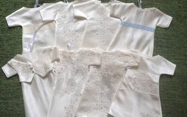 Depois de sofre com aborto, Hayley Parker transformou vestido de noiva em 16 roupinhas