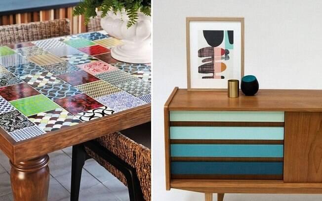 Personalizar móveis com azulejos ou pintá-los também são tendências, segundo o Pinterest