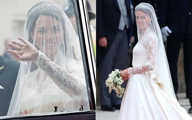 Com o mesmo sorriso, Kate entrou na Abadia nesta sexta-feira