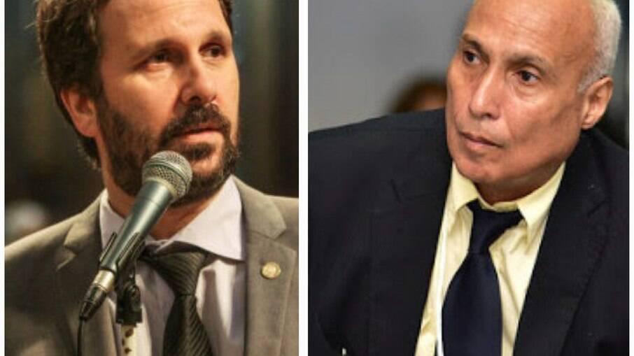Cientista Político/Social Paulo Baía e deputado estadual Flávio Serafini
