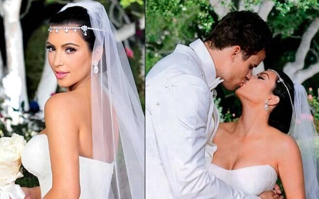 A socialite Kim Kardashian e o jogador de basquete Kris Humphries casaram-se em uma mansão em Montecito, na Califórnia, no dia 20 de agosto