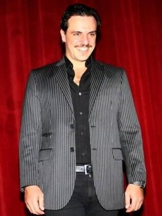 Rodrigo Lombardi após o espetáculo, já sem o figurino de Dom Juan: