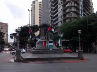 Manifestantes rechaçam ofensiva de Israel à Faixa de Gaza