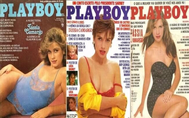Atriz Tássia Camargo foi capa da revista 'Playboy' três vezes