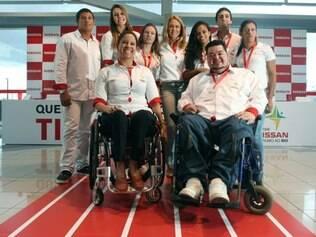 Esportes - Belo Horizonte, Mg. Evento da Nissan com atletas olimpicos e paralimpicos com a presenca de Hortencia. Fotos: Leo Fontes / O Tempo - 25.2.15