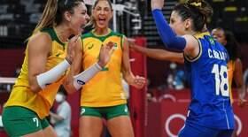 Seleção domina Coréia do Sul no vôlei feminino e avança