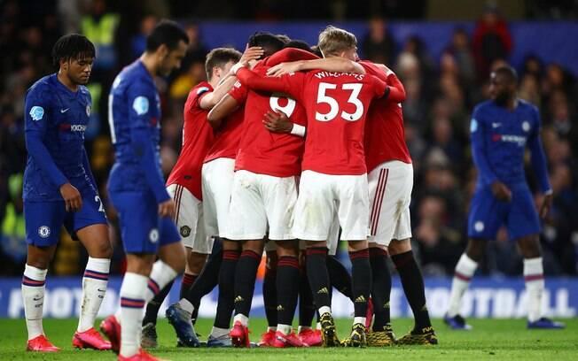 Manchester United vence Chelsea pelo Campeonato Inglês