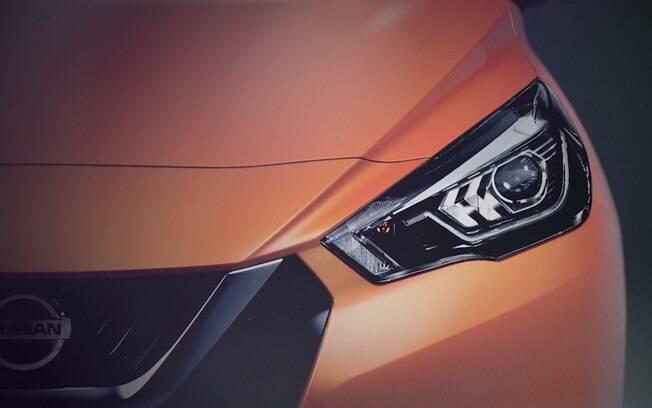 Teaser da nova geração do Nissan March, que se chama Micra na Europa