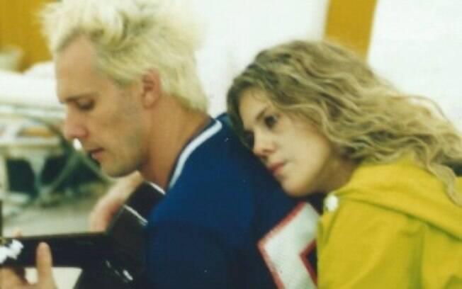 Supla e Bárbara Paz na 1ª edição da Casa dos Artistas (SBT), em 2001.