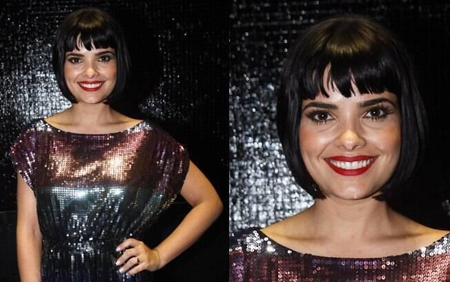 O look para compor a personagem de Vanessa Giácomo: chanel com franjinha
