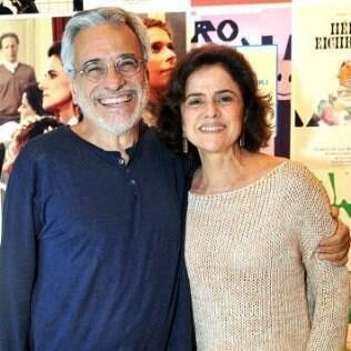 O casal Aderbal Freire-Filho e Marieta Severo
