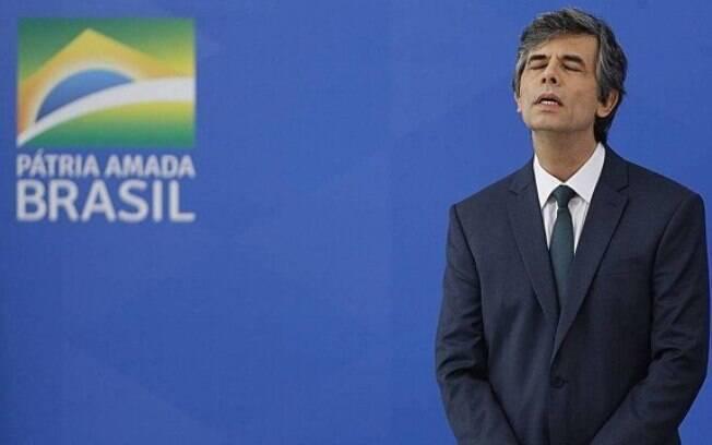 Novo ministro da Saúde, Nelson Teich, em cerimônia de posse no Palácio do Planalto