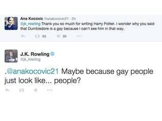 J.K. Rowling responde fã pela rede social