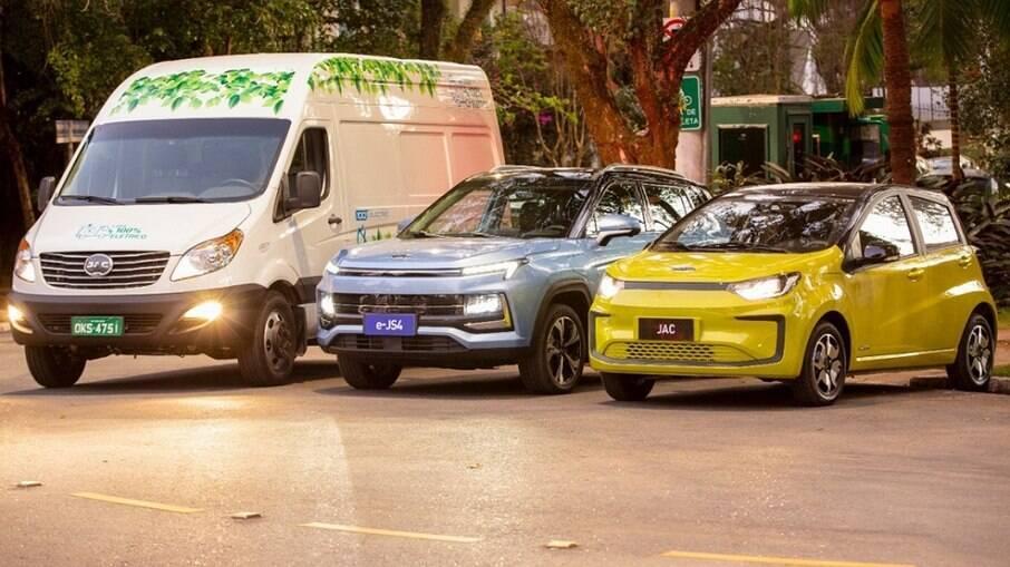 Mais três modelos totalmente elétricos (E-JS1, E-JS4 e iEV 750V) comporão a linha da JAC Motors a partir do segundo semestre.