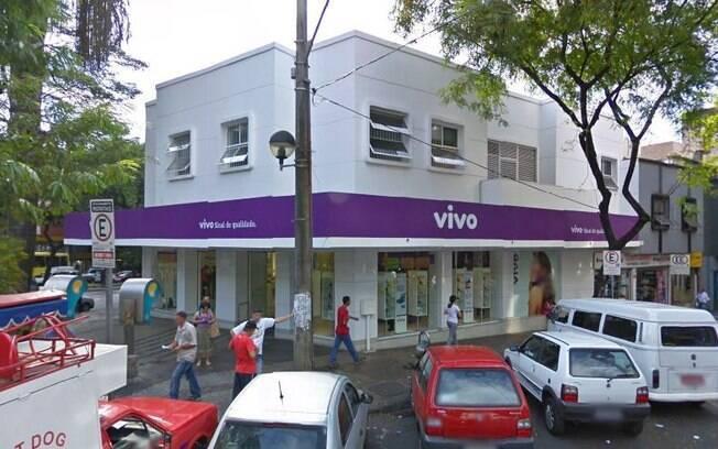 Loja da Vivo na praça Diogo Vasconcelos, sul de Belo Horizonte, onde idoso foi preso por injúria racial e ameaça