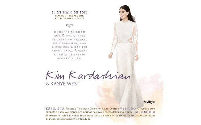 Vestido de noiva: Kim Kardashian