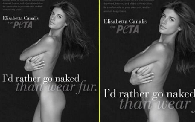 Elisabetta Canalis posou nua em defesa dos animais para o PETA