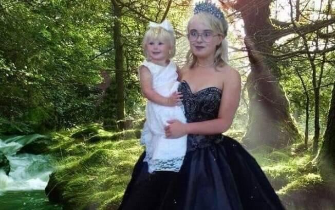 Aos 16 anos de idade, Kayleigh é mãe de uma menina de 2 anos e resolveu levar a filha para seu baile de formatura