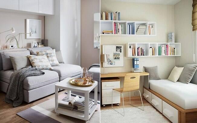 Se você não recebe muitas visitas, o ideal é projetar o quarto de hóspedes para servir como outro cômodo ao mesmo tempo