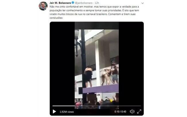 Jair Bolsonaro publica vídeo com conteúdo pornográfico no Twitter e pode ser denunciado por quebra de decoro
