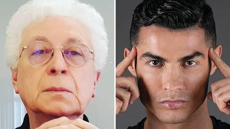 Aguinaldo Silva e Cristiano Ronaldo