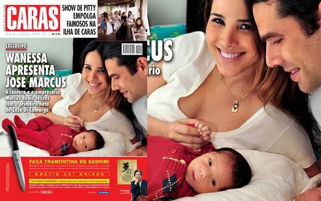 Wanessa apresenta com exclusividade o filho José Marcus na capa da revista