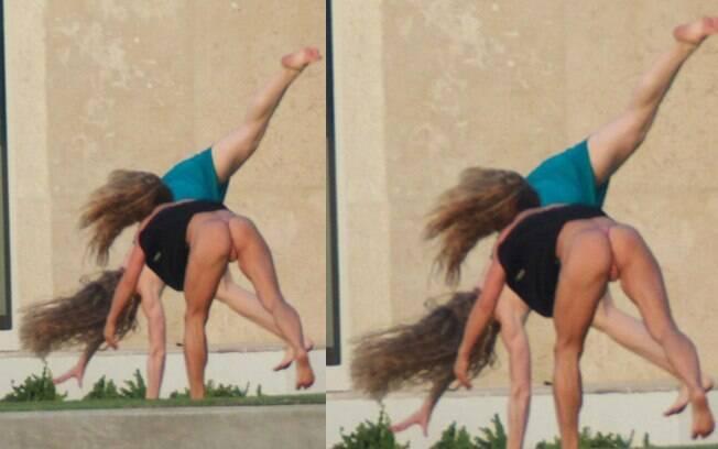 Alex Rodriguez se encantou pelas duas mulheres musculosas